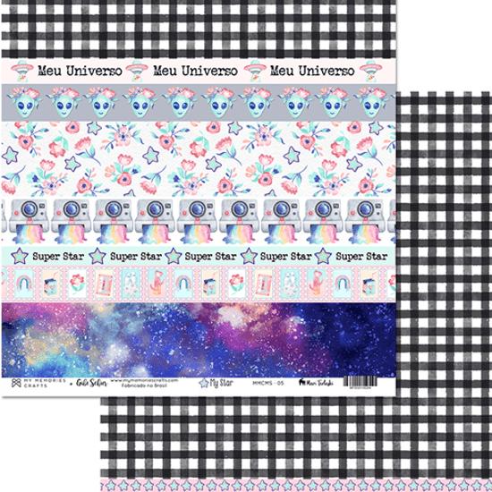 Papel-Scrapbook-My-Memories-Crafts-305x305-MMCMS-005-My-Star-Faixas-Super-Star
