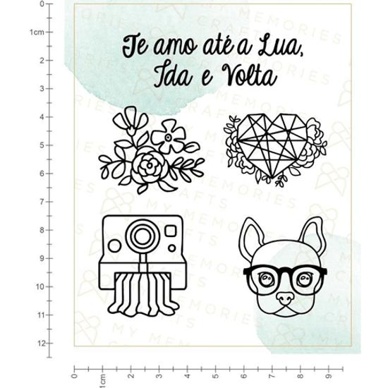 Carimbo-de-Silicone-My-Memories-Crafts-10x12cm-MMCMS-008-My-Star-Te-Amo-ate-a-Lua
