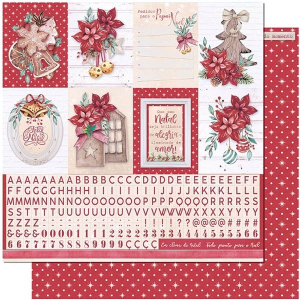 Papel-Scrapbook-Natal-Litoarte-305x305-SDN-136-Feliz-Natal-Vintage-Tags-e-Alfabeto