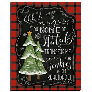 Placa-Decorativas-em-MDF-Natal-Litoarte-19x24cm-DHN-015-Que-a-Magia-do-Natal