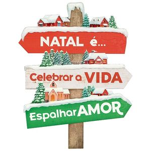 Placa-Decorativa-em-MDF-Natal-Litoarte-29x37cm-DHN-034-Natal-e-Celebrar-a-Vida