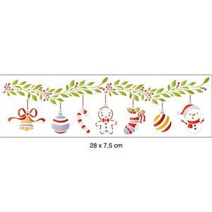 Stencil-Litoarte-Natal-28x8cm-STN-057-Pendulos-de-Natal