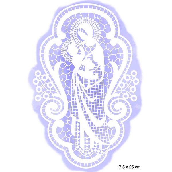 Stencil-Litoarte-Natal-25x16cm-STRN-005-Nossa-Senhora-e-Menino-Jesus
