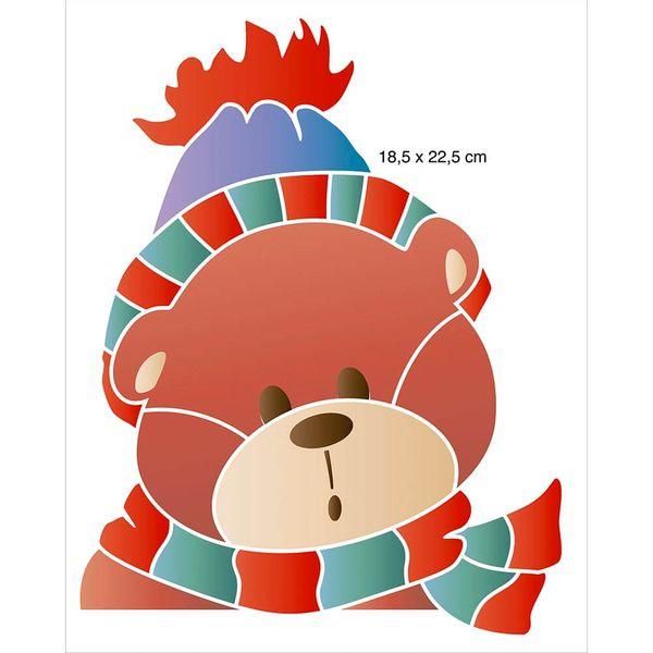 Stencil-Litoarte-Natal-25x20cm-STRN-008-Urso