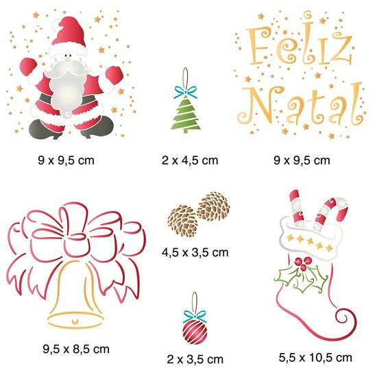 Stencil-Litoarte-Natal-20x20cm-STXXN-013-Feliz-Natal-Sino-e-Papai-Noel