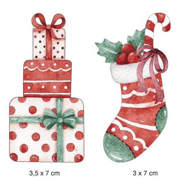 Aplique-Papel-Decoupage-em-MDF-Litoarte-Natal-APMN4-024-4x6cm-2unidades-Presentes-Bota-Vermelha