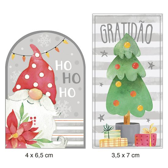 Aplique-Papel-Decoupage-em-MDF-Litoarte-Natal-APMN4-027-4x6cm-2-unidades-Tags-Papai-Noel-e-Pinheirinho