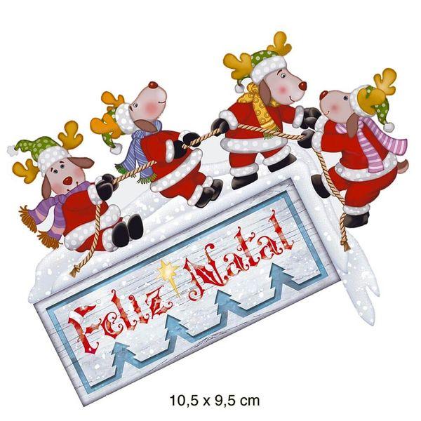 Aplique-Papel-Decoupage-em-MDF-Litoarte-Natal-APMN10-006-10cm-Renas-Feliz-Natal