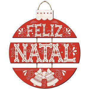 Placa-Decorativas-Litoarte-Natal-29x36cm-DH6N-004-Bola-Feliz-Natal