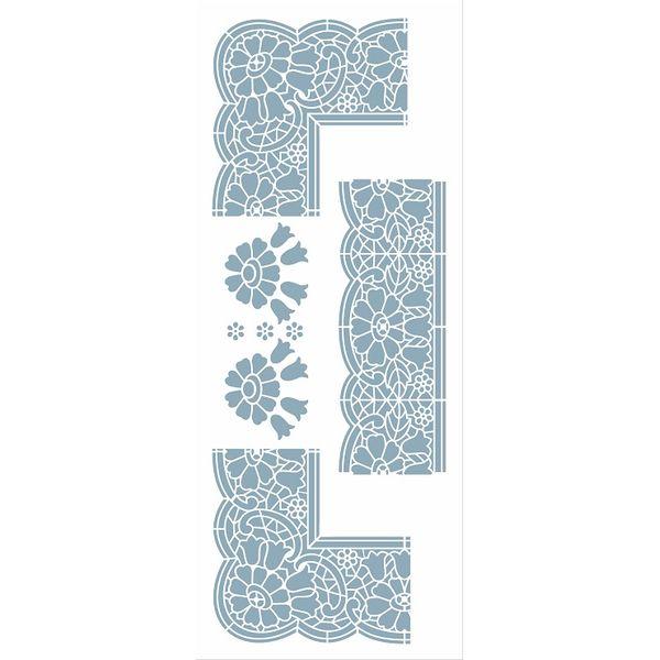 Stencil-Opa-17x42cm-3043-Cantoneira-Renda-Rechilieu-I