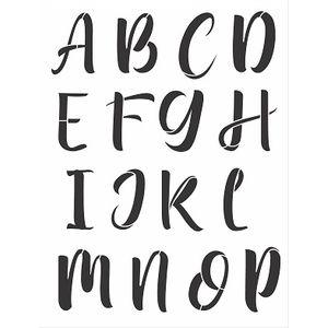 Stencil-Opa-32x42cm-3066-Alfabeto-Bungalow-Maiusculo-I-de-II