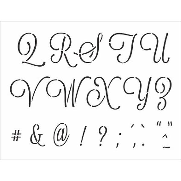 Stencil-Opa-32x42cm-3070-Alfabeto-Cursivo-Maiusculo-II-de-II