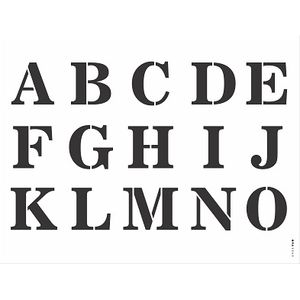 Stencil-Opa-32x42cm-3063-Alfabeto-Reto-Maiusculo-I-de-II