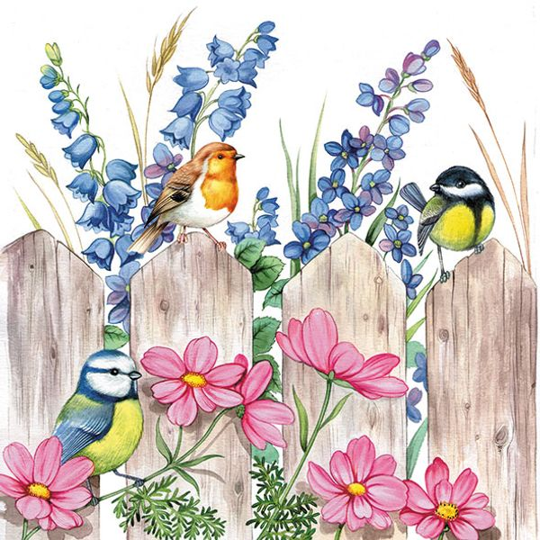 Guardanapo-Decoupage-Ambiente-Birds-on-Fench-13312720-2-unidades