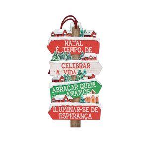 Placa-TAG-MDF-Decorativa-Natal-Litoarte-DHTN-022-142x72cm-E-tempo-de-celebrar-a-vida