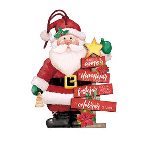 Placa-TAG-MDF-Decorativa-Natal-Litoarte-DHTN-023-10x11cm-Papai-Noel-com-Arvore-de-Natal