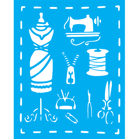 Stencil-Litocart-25x20cm-LSG-173-Icones-Costura