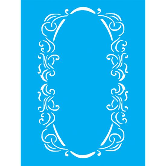 Stencil-Litocart-20x15cm-LSM-253-Moldura-Oval-com-Arabescos