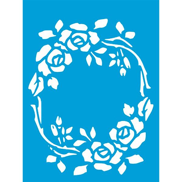 Stencil-Litocart-20x15cm-LSM-257-Guirlanda-de-Rosas