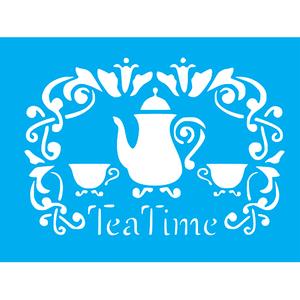 Stencil-Litocart-20x15cm-LSM-258-Tea-Time