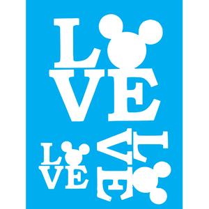 Stencil-Litocart-20x15cm-LSM-269-Love-Mickey