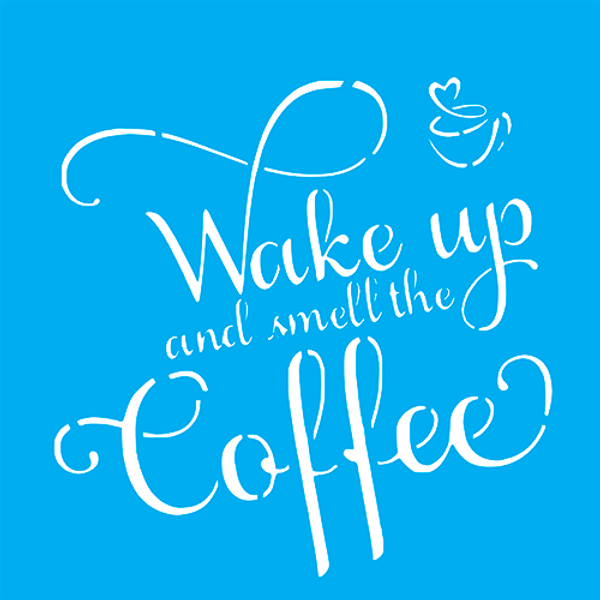 Stencil-Litocart-20x20cm-LSQ-211-Wake-Up-Coffee