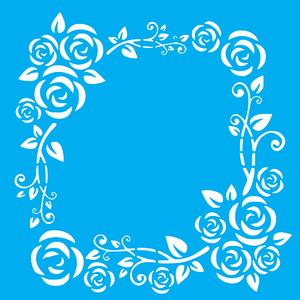 Stencil-Litocart-20x20cm-LSQ-213-Guirlanda-Ramos-e-Rosas