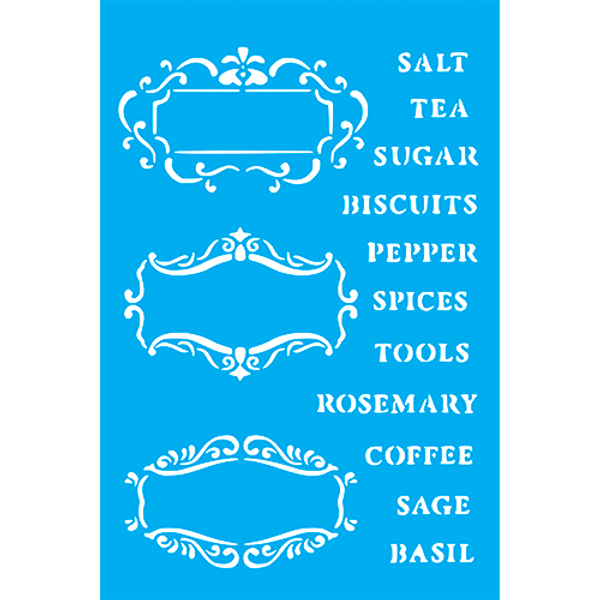 Stencil-Litocart-30x20cm-LSS-084-Tags-Alimentos
