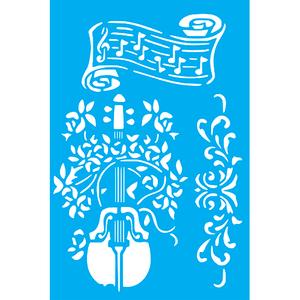 Stencil-Litocart-30x20cm-LSS-086-Notas-e-Instrumentos-Musicais