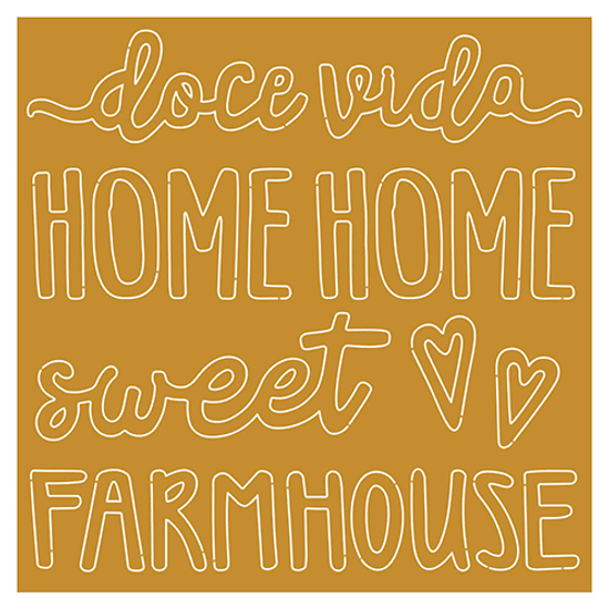 Aplique-em-Acrilico-Dourado-Litoarte-APA-006-Doce-Vida-Home-Sweet-Home