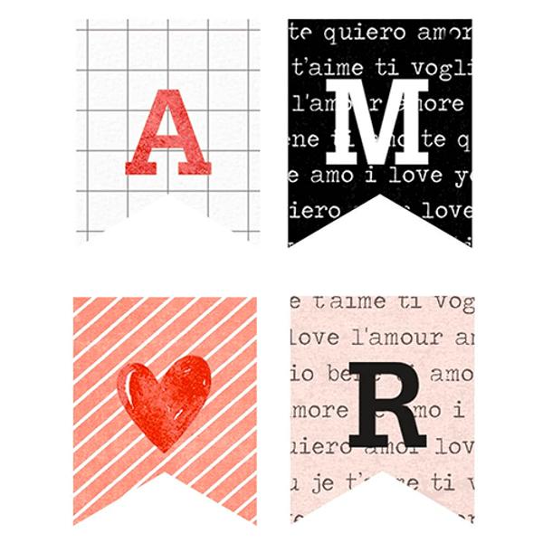Aplique-Papel-Decoupage-em-Mdf-Litoarte-3cm-APM3-287-Bandeirinhas-Amor