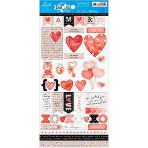 Apliques-em-Papel-Recortado-Litoarte-LDC-022-Die-Cut-Tags-Amor