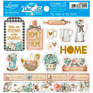Apliques-em-Papel-Recortado-Litoarte-LDCH-007-Die-Cut-Tags-Home-Sweet-Home