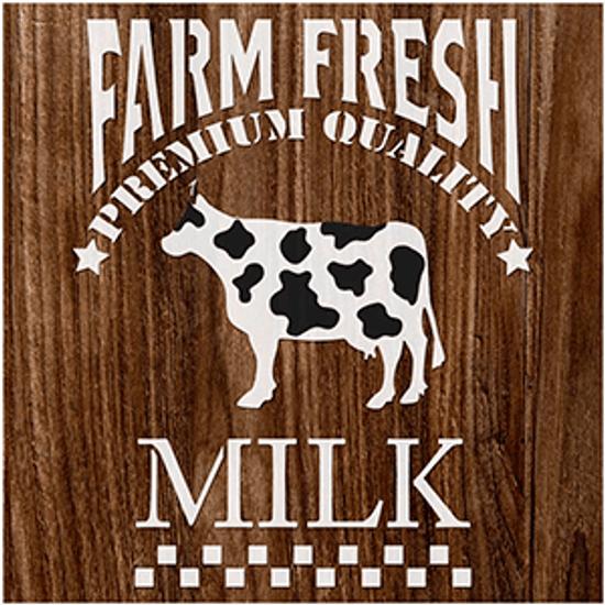 Stencil-Litoarte-14x14cm-STA-144-Milk-Farm-Fresh