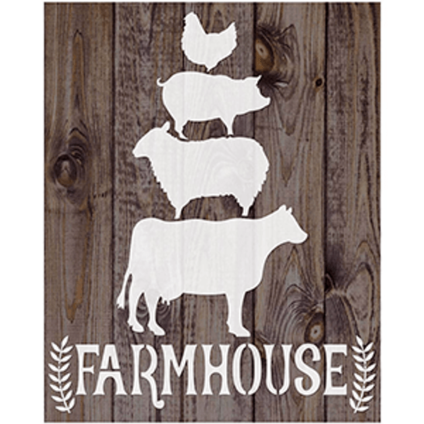 Stencil-Litoarte-17x21cm-STM-720-Animais-Farmhouse