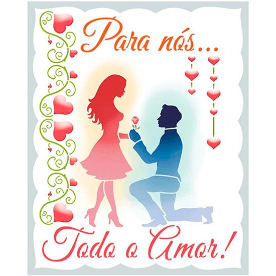 Stencil-Litoarte-20x25cm-STR-195-Para-Nos-Todo-o-Amor