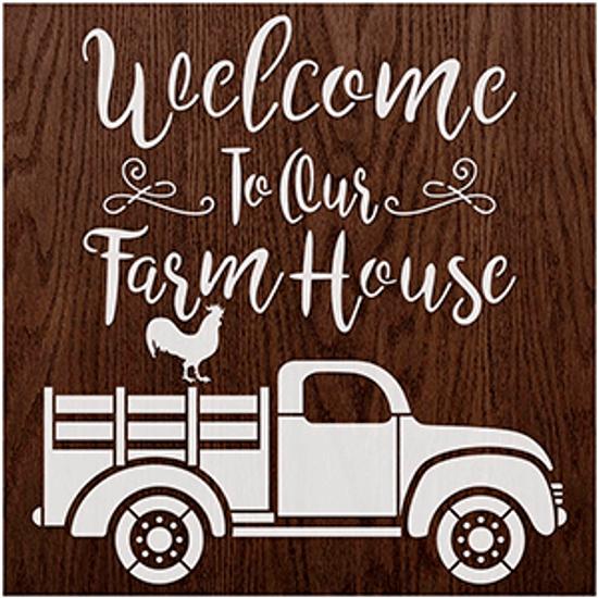 Stencil-Litoarte-17x21cm-STXX-197-Welcome-To-Our-Farmhouse