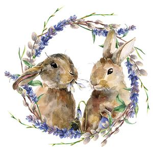 Guardanapo-Decoupage-Ambiente-Rabbit-Wreath-23314855-2-unidades