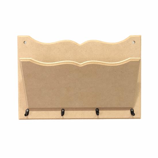 Porta-Cartas-e-Chaves-em-MDF-264x18x6cm-4-Ganchos---Palacio-da-Arte