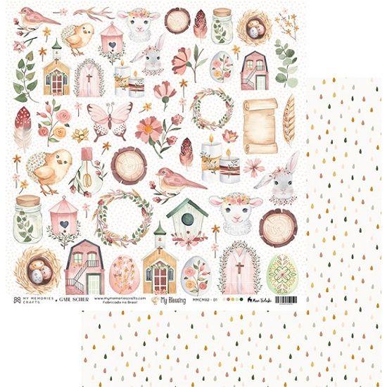 Papel-Scrapbook-My-Memories-Crafts-305x305-MMCMB2-001-Elementos-Batismo