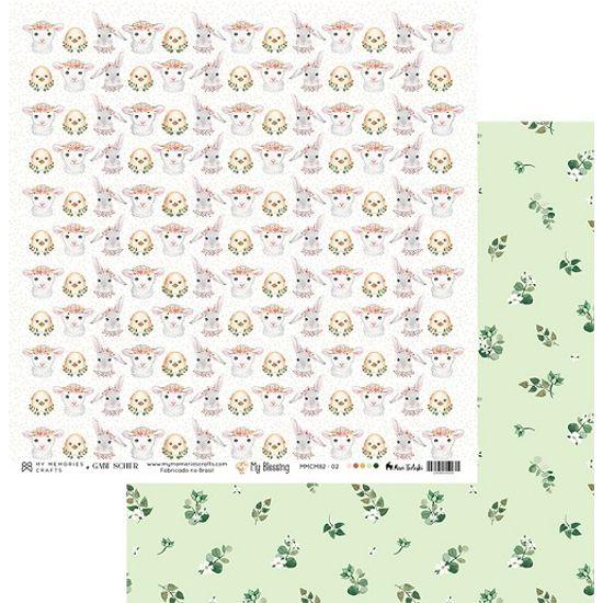 Papel-Scrapbook-My-Memories-Crafts-305x305-MMCMB2-002-Animais-e-Ramos