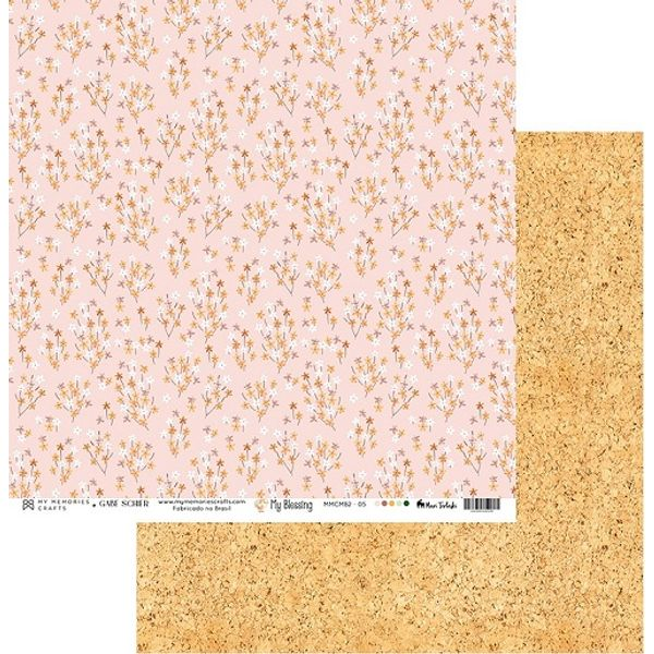 Papel-Scrapbook-My-Memories-Crafts-305x305-MMCMB2-005-Flores-e-Cortica