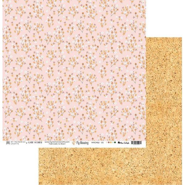Papel-Scrapbook-My-Memories-Crafts-305x305-MMCMB2-005-Flores-e-Cortica