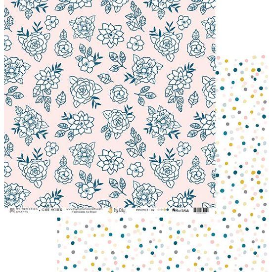 Papel-Scrapbook-My-Memories-Crafts-305x305-MMCMCT-002-Flores-e-Poa