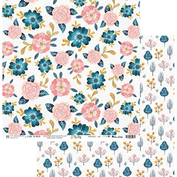 Papel-Scrapbook-My-Memories-Crafts-305x305-MMCMCT-004-Flores-e-Floresta