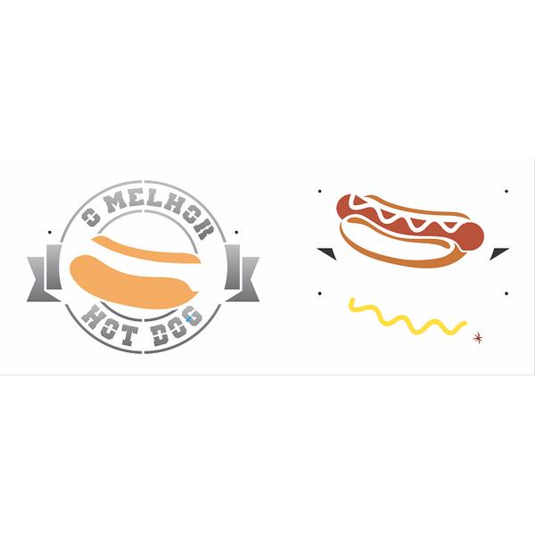 Stencil-Opa-17x42cm-3110-Culinaria-Hot-Dog