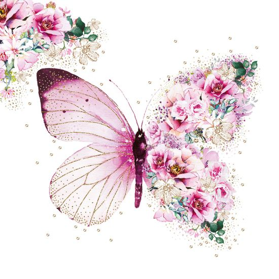 Guardanapo-Decoupage-Ambiente-1333649-Butterfly-Flowers-2-unidades