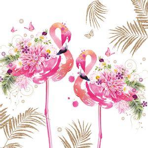 Guardanapo-Decoupage-Ambiente-1333652-Floral-Flamingos-2-unidades