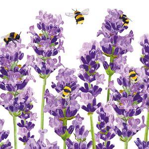 Guardanapo-Decoupage-Ambiente-1333956-Bees---Lavender-Napkin-2-unidades