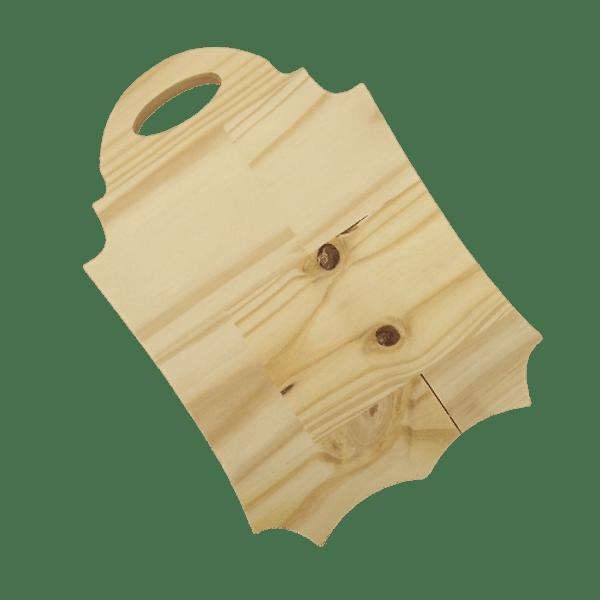 Tabua-Decorativa-em-Madeira-Pinus-Palacio-da-Arte-28x195x18cm-Retangular-Ondulada-com-Alca